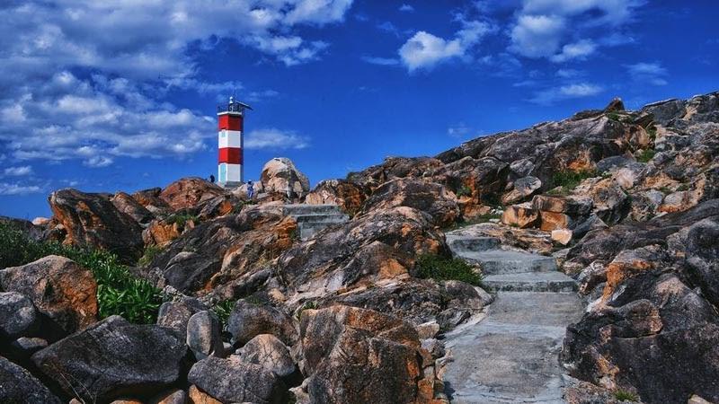 Cảnh đẹp hải đăng gành đèn